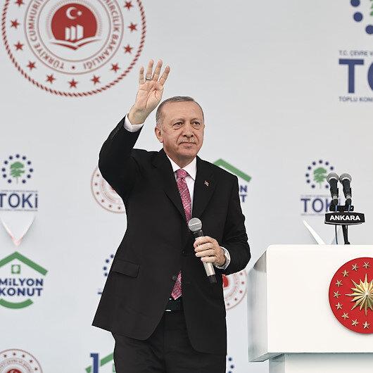 Cumhurbaşkanı Erdoğan: Biz eserlerimizle konuşuyoruz
