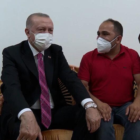 Cumhurbaşkanı Erdoğandan Sincanda ev ziyareti