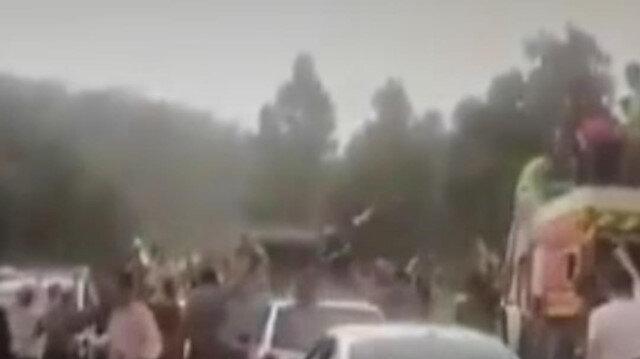 Cezayir'de orman yangınlarını söndürme çalışmaları esnasında şiddetli yağmur yağdı