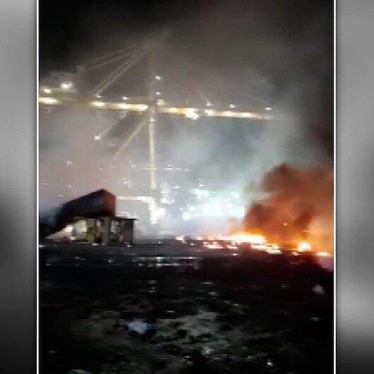 Dubaideki Cebel Ali Limanında patlama sonucu çıkan yangın kontrol altına alındı