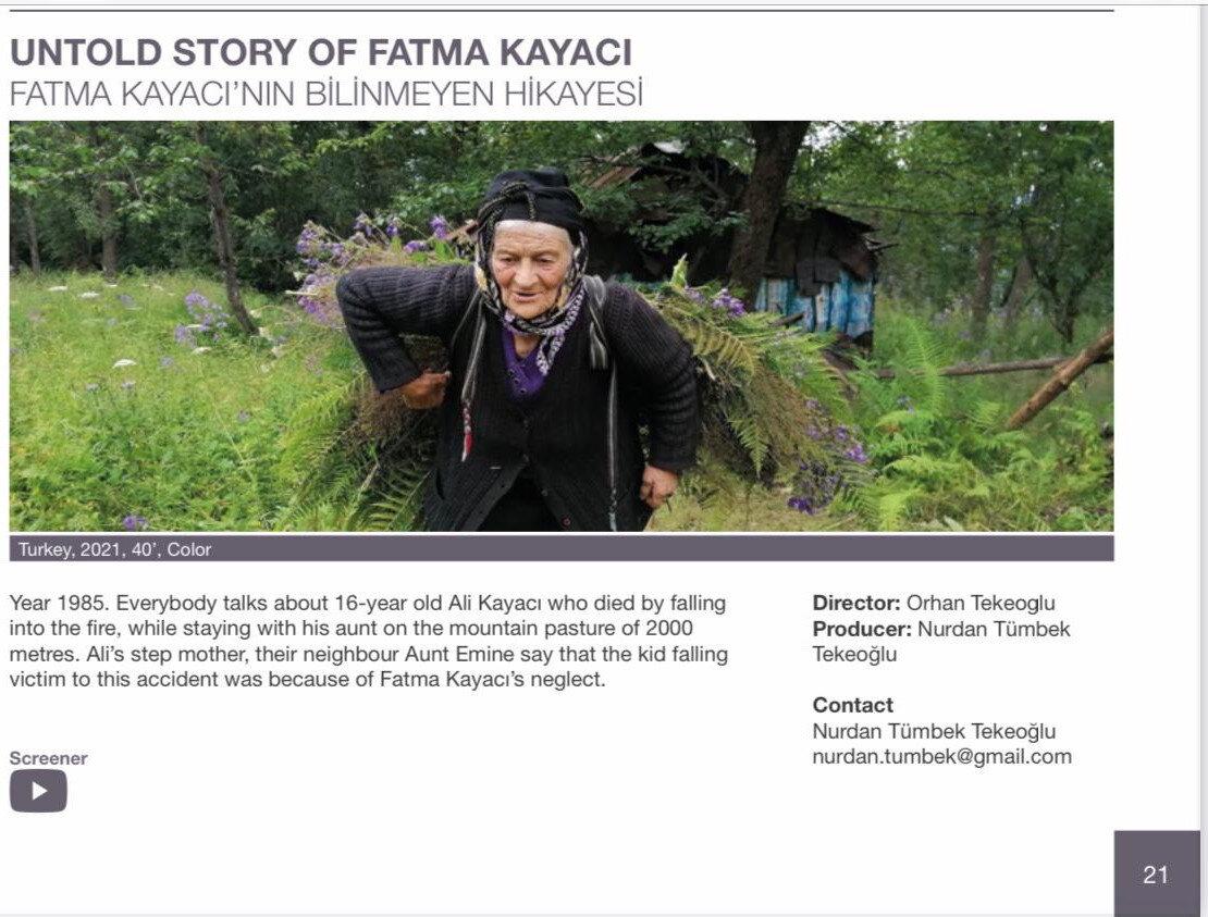 Yönetmen Orhan Tekeoğlu ve yapımcı eşi Nurhan Tekeoğlu, Fadime Kayacı'nın hayatının belgesele taşıdı.