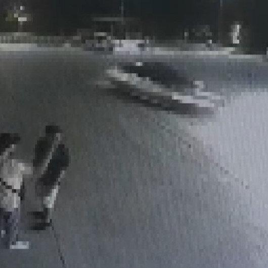 Gurbetçi genç akaryakıt istasyonunda drift atınca ehliyetinden oldu