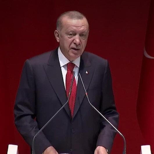 Cumhurbaşkanı Erdoğan 2023 için konuştu: Daha çok çalışmak ve sonunda başarmaktan başka bir alternatifimiz yoktur