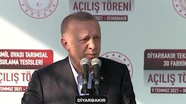 Cumhurbaşkanı Erdoğan: PKK PYD HDP bu milletin bu bölgenin bu halkın başına gelmiş en büyük felakettir