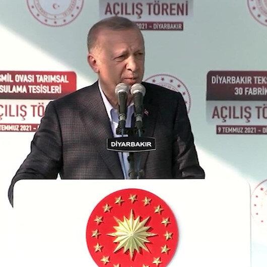 Cumhurbaşkanı Erdoğan: Hangi demokraside devletin yatırım ve hizmet için gönderdiği ödenekler yollara mayın döşemek için kullanılır