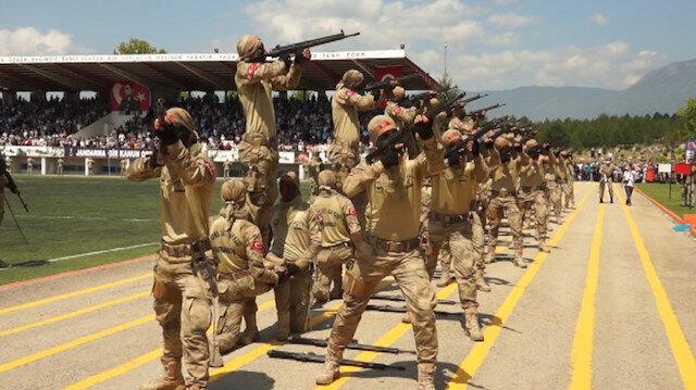 Jandarma komandolar terörle mücadele için hazır