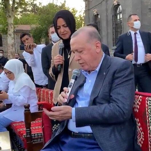 Cumhurbaşkanı Erdoğanın sesinden Gönül Dağı türküsü