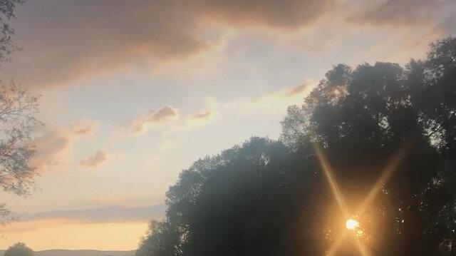 Susuz Çayı'nda huzur veren gün batımı