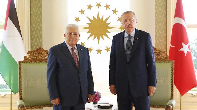 Cumhurbaşkanı Erdoğan ve Mahmud Abbas arasındaki görüşme sona erdi