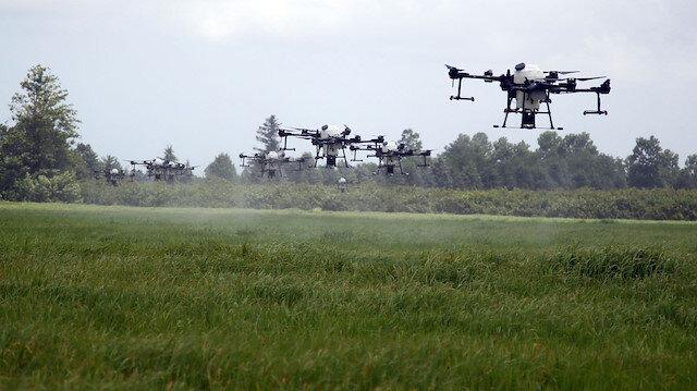 Türkiye'de ilk kez ZİHA'larla tarım arazileri ilaçlandı