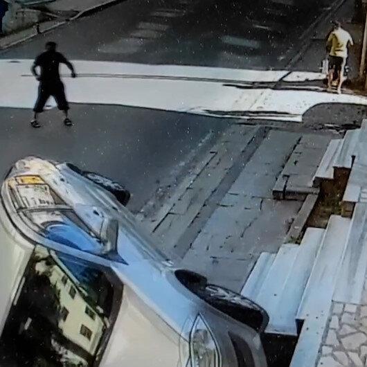 Ataşehirde sürücüsüz otomobil takla attı: O anlar kamerada