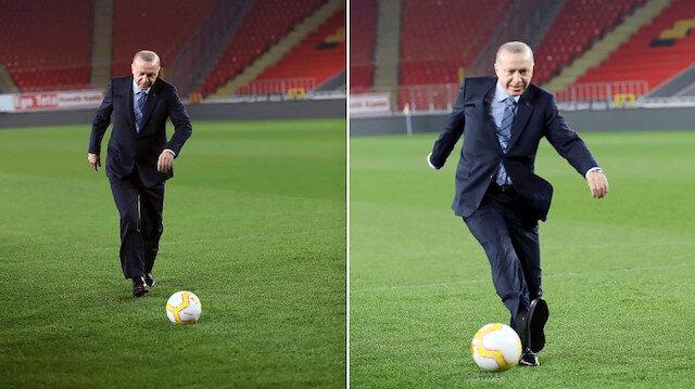 Cumhurbaşkanı Erdoğan Uluslararası Kuzey Kıbrıs Kültür ve Spor Festivali'nde sahaya iniyor