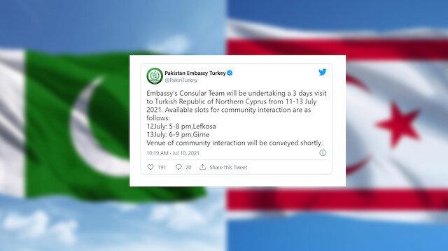 Pakistan'ın Türkiye Büyükelçiliği'nden dikkat çeken KKTC paylaşımı