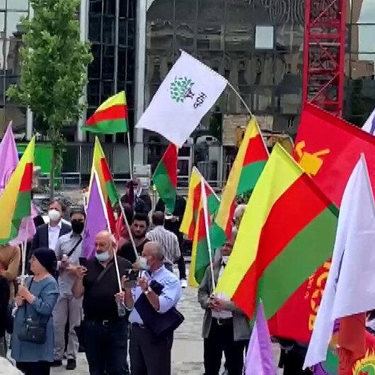 Almanyada PKK destekçileri Alman polisini protesto etti