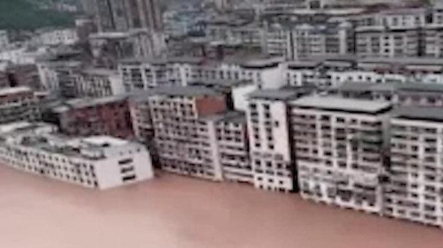 Çin'de şiddetli yağışlar 27 milyon doların üzerinde ekonomik zarara sebep oldu