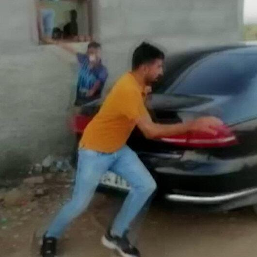 Gaziantepte horoz dövüşü yapılan çiftliğe baskından böyle kaçmaya çalıştılar