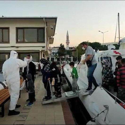 Yunan unsurlarınca geri itilen 43 göçmen Türk Sahil Güvenlik ekibi tarafından kurtarıldı