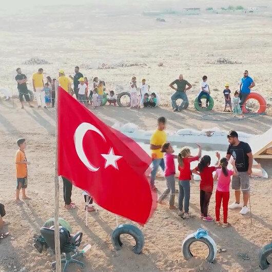 Harranlı çocuklar profesyonel Survivor parkurunda yarışıyor