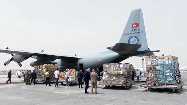 Türkiye'nin gönderdiği tıbbi yardım malzemeleri Tunus'a ulaştı