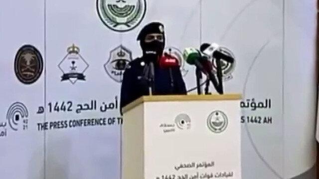 Suudi Arabistan'da bir ilk: Kadın asker basın toplantısı düzenledi