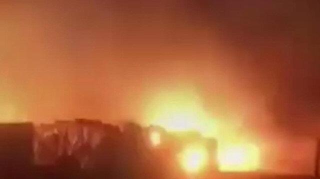 Lübnan'da mülteci kampında yangın çıktı