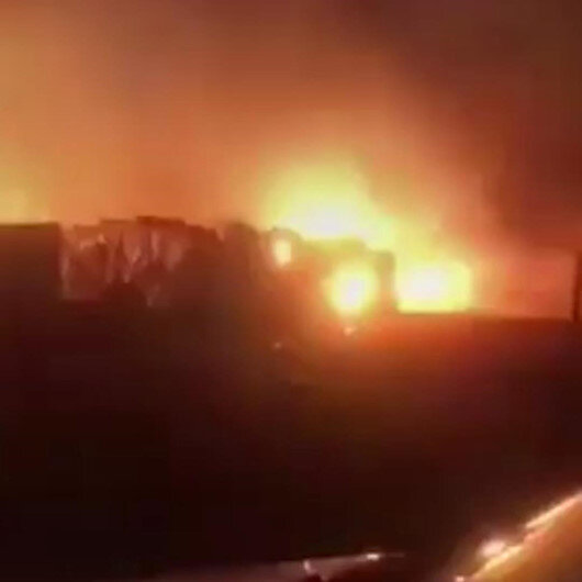 Lübnanda mülteci kampında yangın çıktı