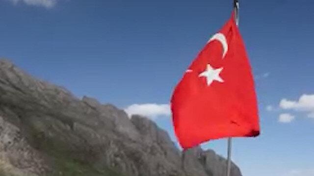 Terörden temizlenen Çarçel Yaylası'nda 40 yıl sonra Türk bayraklı eğlence