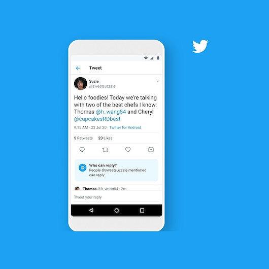 Twitter artık tweet'lere kimlerin yanıt verebileceğini seçmeyi sağlıyor