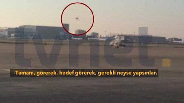 15 Temmuza ait yeni görüntüler: Cumhurbaşkanı Erdoğanı vurmak için helikopterle Atatürk Havalimanına gelen FETÖcüler böyle görüntülendi