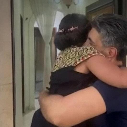 Babası hapisteyken dünyaya gelen Filistinli Leyla babasıyla ilk kez görüştü