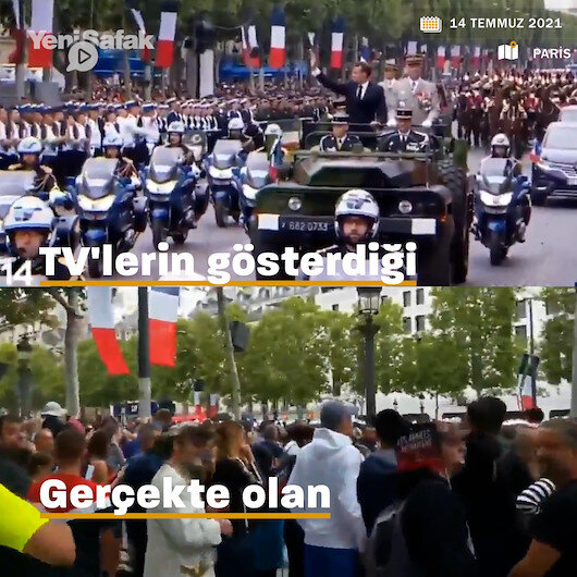 Fransız TVleri Cumhurbaşkanı Macronun yuhalandığı görüntüleri sansürledi