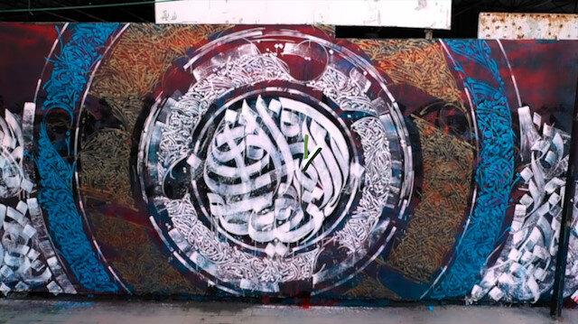 Filistinli grafiti sanatçısı Bilal'den Gazzelilere destek