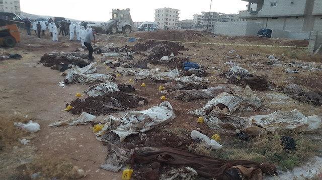 Afrin'de PKK katliamı: 35 sivilin cansız bedeni toplu mezarda bulundu