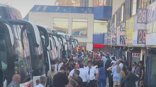 15 Temmuz Demokrasi Otogarı'nda bayram öncesi yoğunluk yaşanıyor