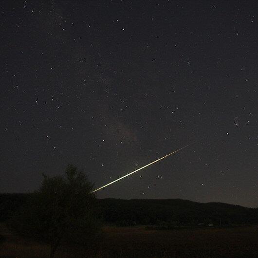 Bursa'da meteor düşüşü böyle görüntülendi