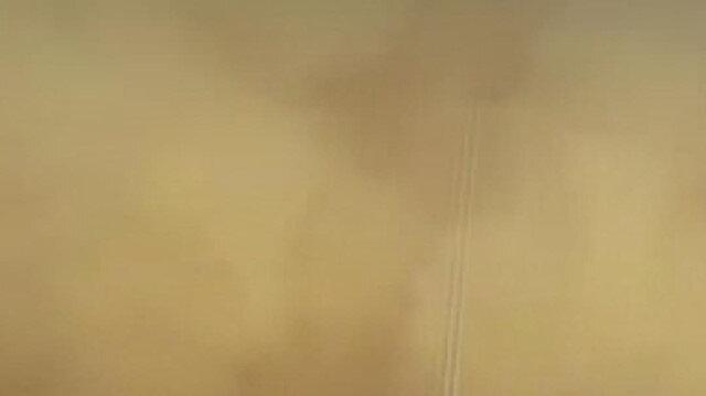Suudi Arabistan'da kum fırtınası etkili oldu: Göz gözü görmedi