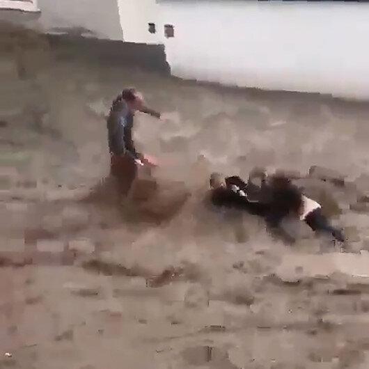 Sele kapılan Türk çiftin hayatını Avusturyalı komşusu kurtardı: O anlar kamerada