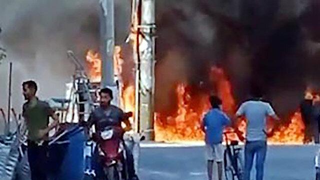 Şanlıurfa'da elektrik trafosu bomba gibi patladı
