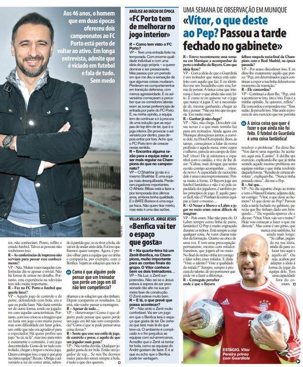 Vitor Pereira ile Pep Guardiola'nın arasındaki taktik ilişkisini anlatan haber