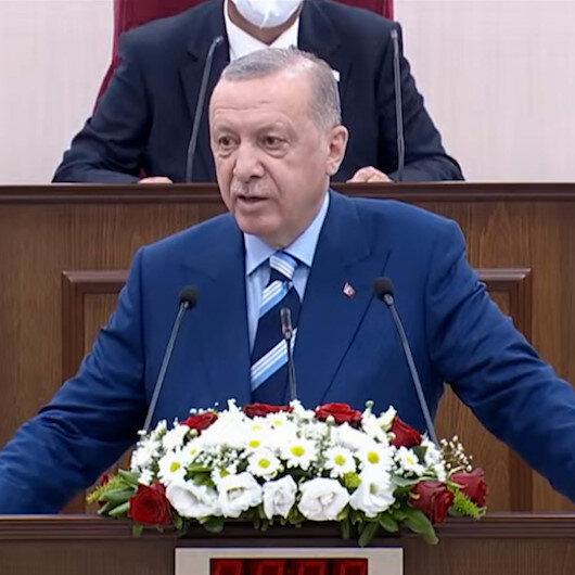 Cumhurbaşkanı Erdoğan: KKTCye Cumhurbaşkanlığı Külliyesi ve Millet Bahçesi yapacağız