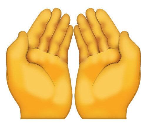 Müslümanların kullanması gereken dua emojisi ise bu.