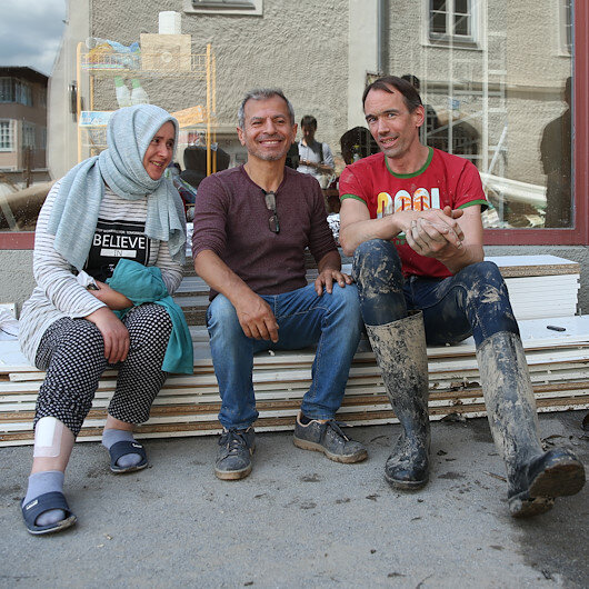 Avusturyada sel mağduru Türk çift yaşadıkları korku dolu anları anlattı