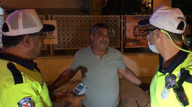 Isparta'da polisin alkollü sürücüyle imtihanı: Sizin makineniz bozuk