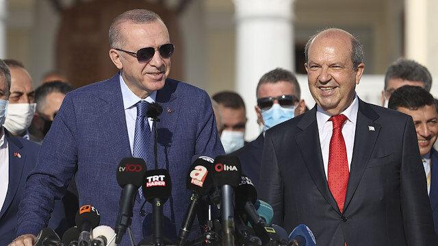 Cumhurbaşkanı Erdoğan'dan KKTC'de bayram mesajı: Artık Kıbrıs Türkü diyoruz