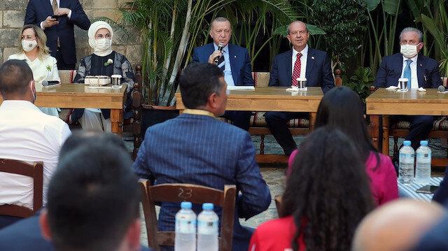 Cumhurbaşkanı Erdoğan, KKTC'de gençlerle buluştu: Bu dava bize emanettir