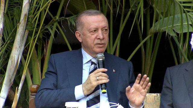 Cumhurbaşkanı Erdoğan: Külliyeyi Beşparmak Dağları'na sırtımızı dayayarak yapacağız