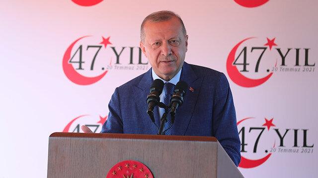 Cumhurbaşkanı Erdoğan'dan Kıbrıs mesajı: Harcayacak bir 50 yılımız daha yok