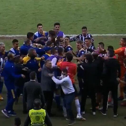 Libertadoresten elenen Bocalı oyuncular polisle çatıştı
