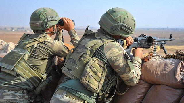 Barış Pınarı bölgesine havan saldırısı gerçekleştiren 5 terörist etkisiz hale getirildi