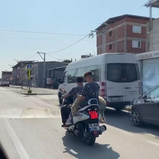 Bursada ilginç görüntü: Kurbanı kesime motosikletle götürdüler